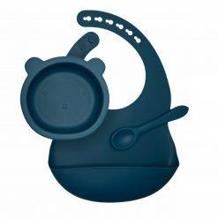 The Bear Bowl Set - Peacock Blue