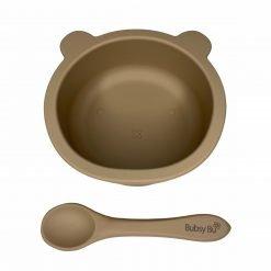 Baby Bear Bowl & Spoon Mocha Sand