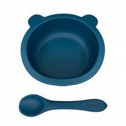 Baby Bear Bowl & Spoon Peacock Blue