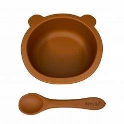 Baby Bear Bowl & Spoon Spiced Pumpkin