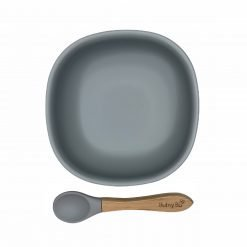 Bowls Squared & Spoon Grey Sky