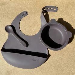 Bear Bowl Set- Aubergine1