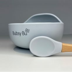 Orb Bowl & Spoon - Icey Blue 01