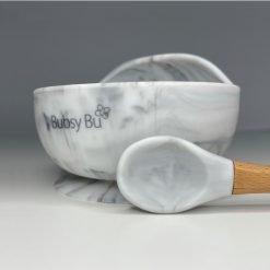Orb Bowl & Spoon - Marble 01
