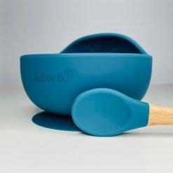 Orb Bowl & Spoon - Peacock Blue 01