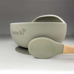 Orb Bowl & Spoon - Sage 01