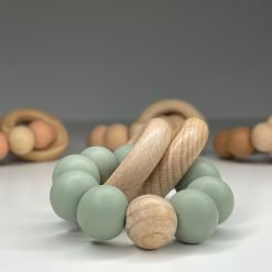 Ring Teether - Olive 01