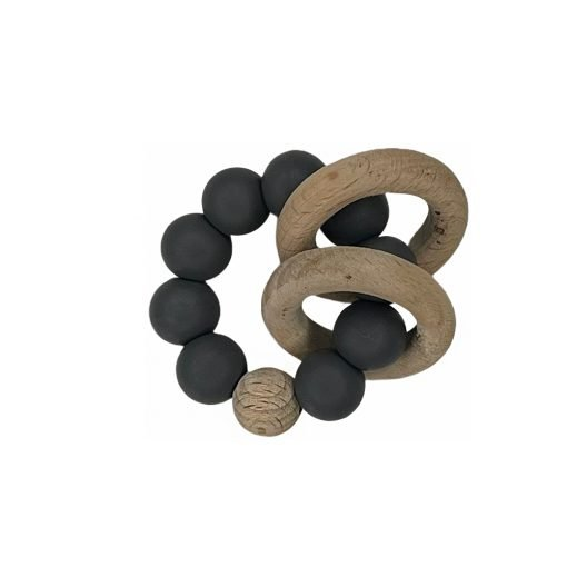 Ring Teether - Charcoal