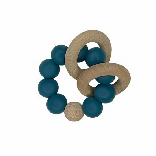 Ring Teether - Peacock Blue