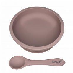 Slimline Bowl & Spoon - Dusty Rose